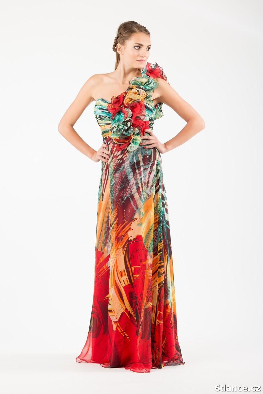 Dámské společenské šaty - dlouhé  Šaty dlouhé č. 16 6d8f7511485